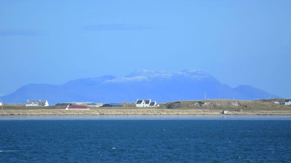 The Island of Rum in the background