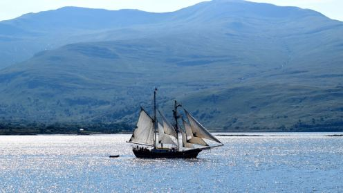 A Yacht in the Sound of Mull