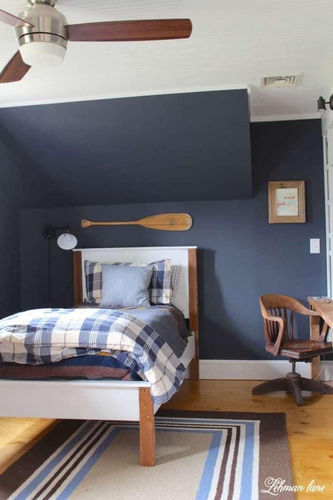 Navy Boys Bedroom Makeover