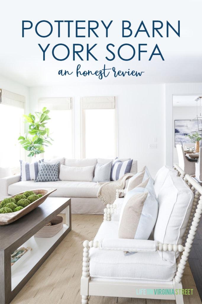 pottery barn york sofa review life on
