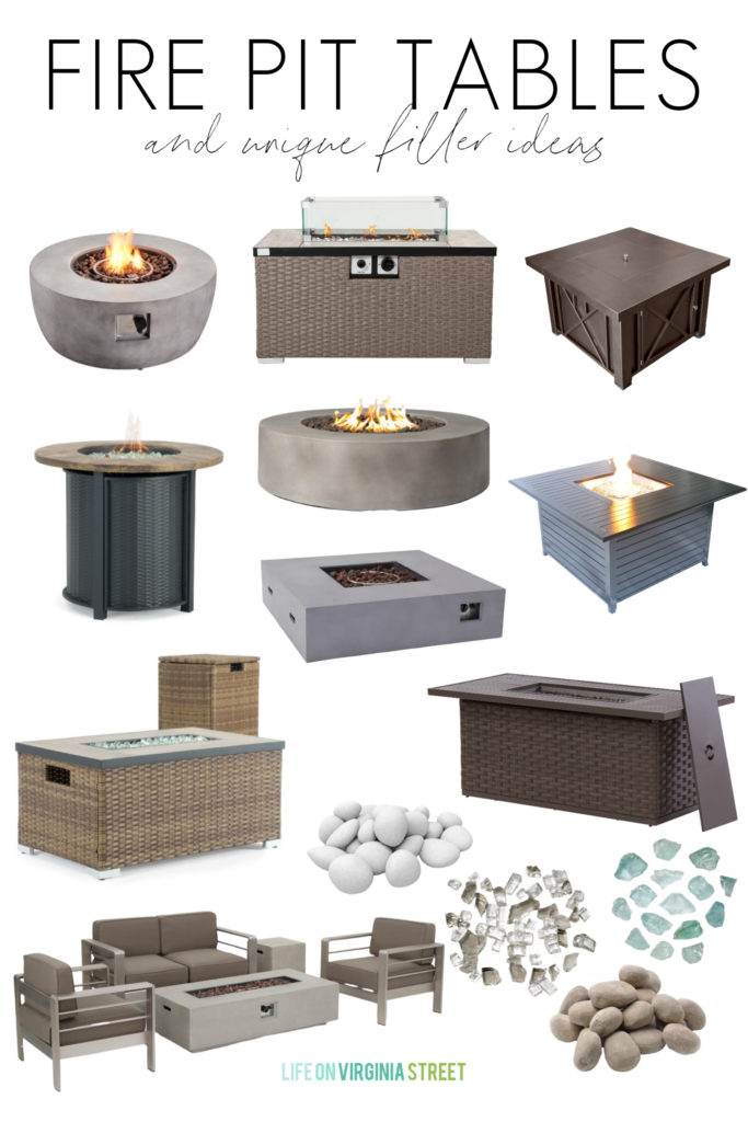 fire pit tables filler ideas life