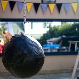 how to make a wrecking ball pinata - life on wallace