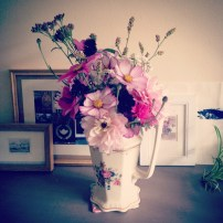 Last of the cut flowers from the garden