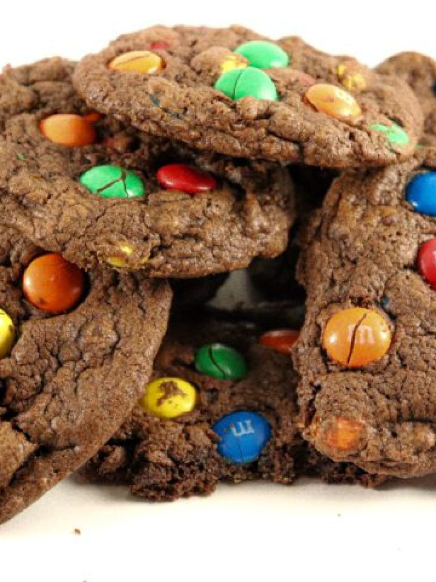 Double Chocolate Chip Cookies with M&M's