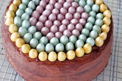 Cadbury Mini Egg Cake Top Down