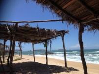 Palapas in the Secret beach