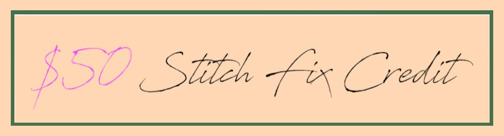 Stitch Fix credit