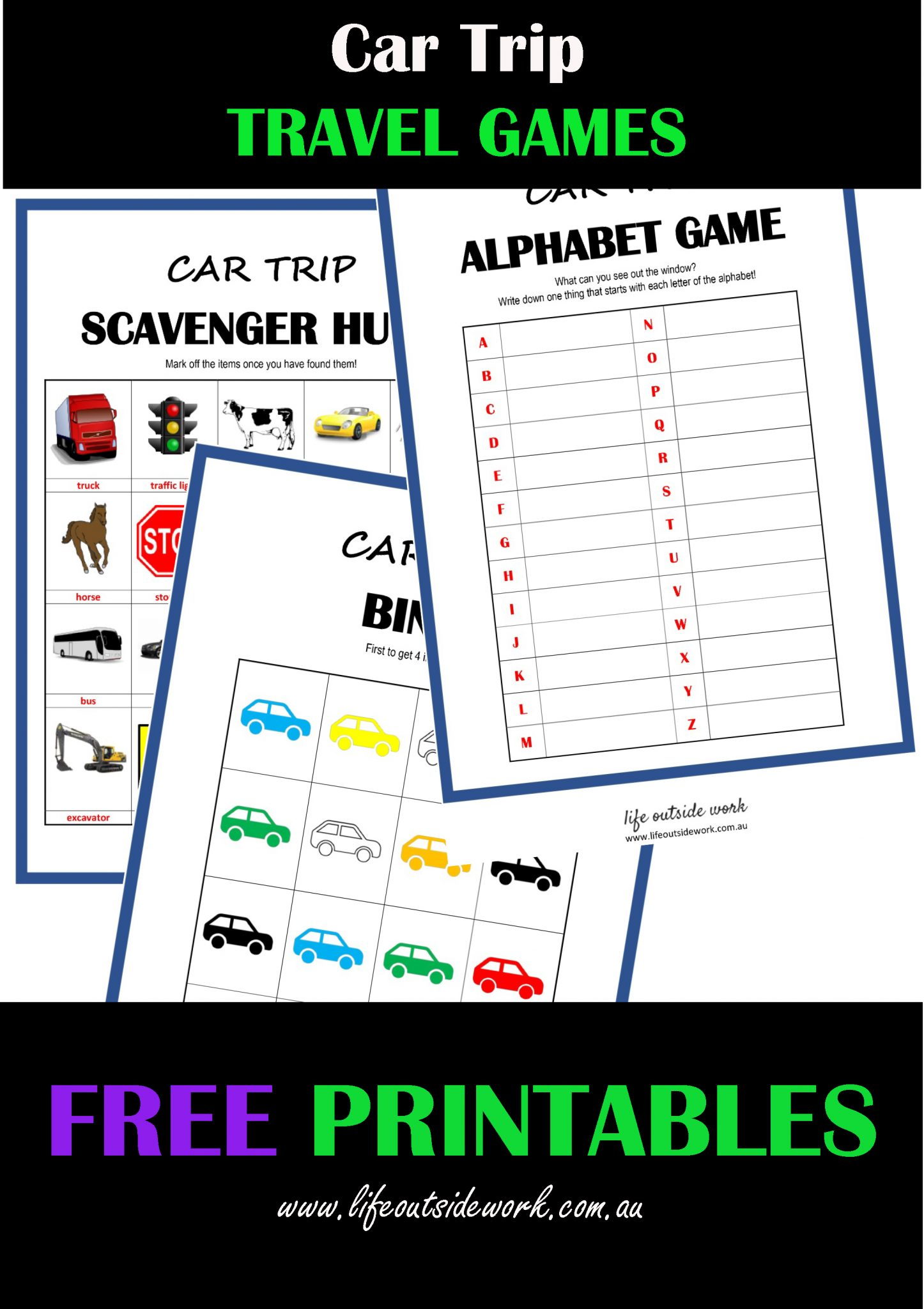 Car Travel Games Free Printables