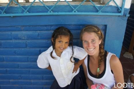 Quinn at Escuela El Baston with the San Juan del Sur Library in Nicaragua