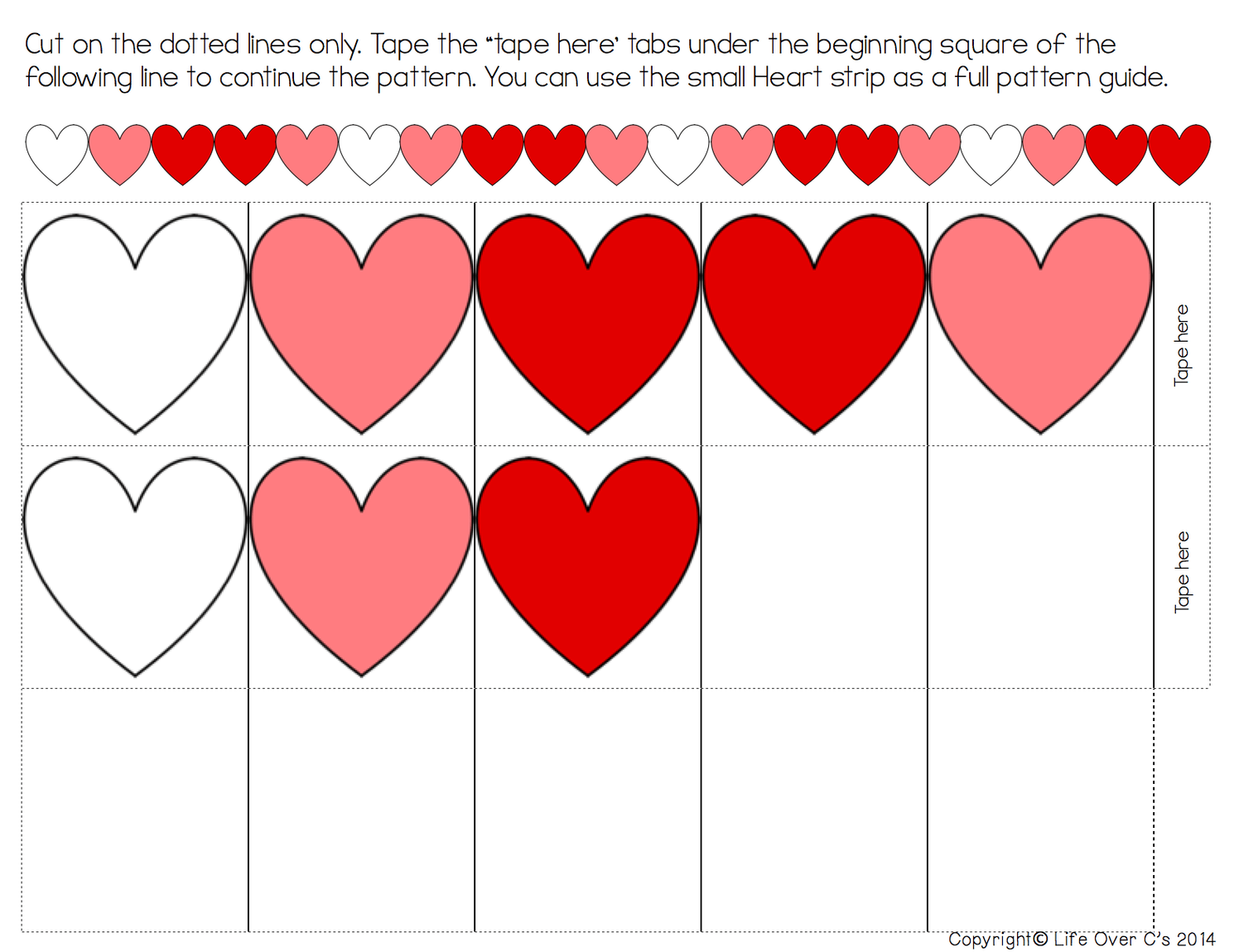 Heart Pattern Free Printable For Valentine S Day