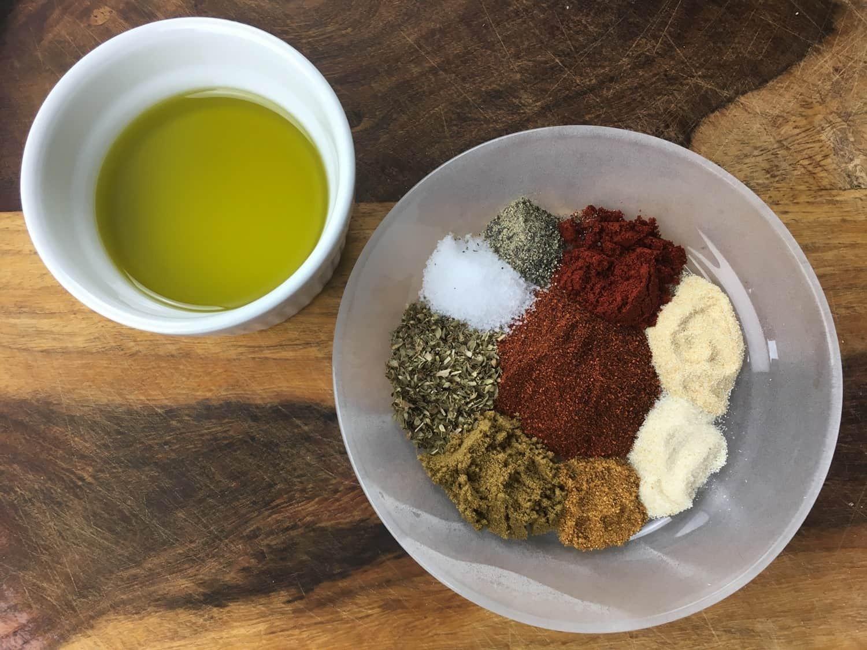 Ingredients for Homemade Fajita Seasoning Recipe
