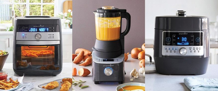 Air Fryer, Blender, and Quick Cooker from Pampered Chef