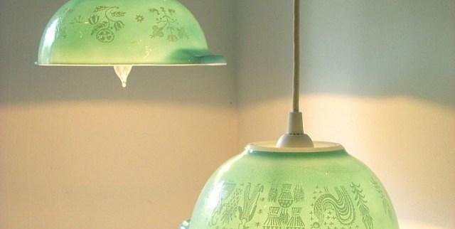 Rezultat slika za luster od keramičke zdjele