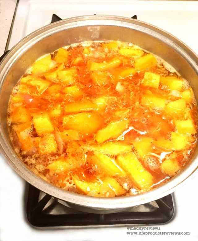 Baked roast pumpkin soup