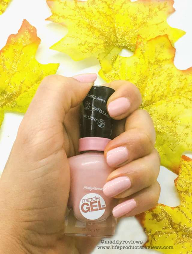 Sally Hansen Miracle Gel Coat Pink Variety Colors demo Pinky promise