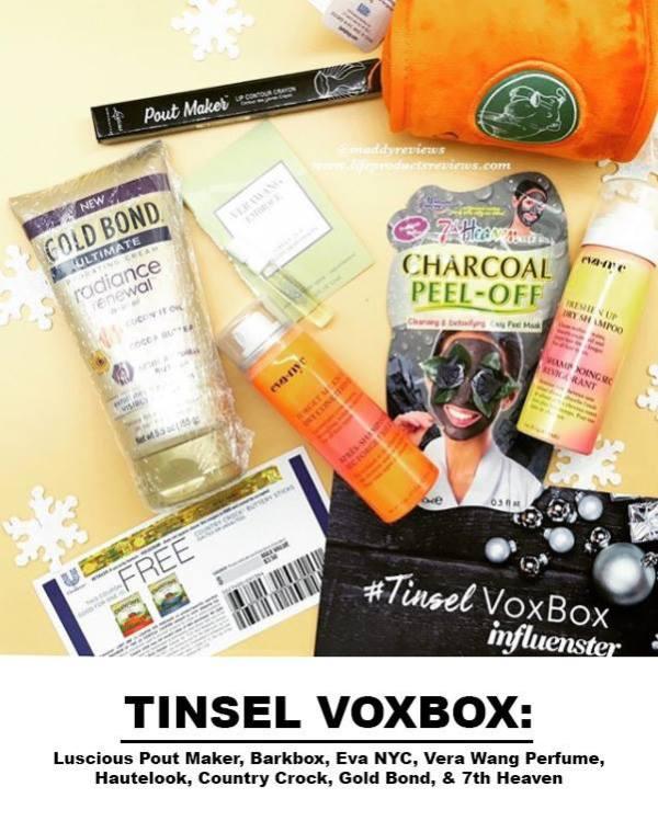 Tinsel-Vobox-Influenster-Charcoal-peel-off-mask-gold-bond-radiance