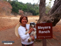 Taking Meyers Ranch trail