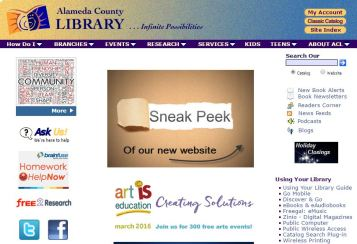 Alameda County library website