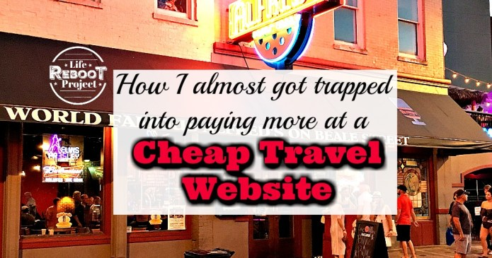 Some cheap travel tips to keep you from paying more at discount travel websites. I almost got trapped paying more for a flight. #liferebootproject #cheaptravel #cheaptraveltips #cheaptravelhacks