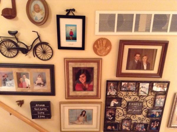bedroom gallery wall
