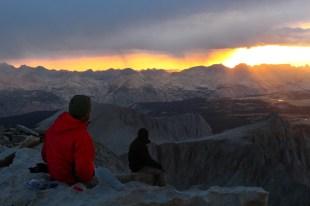 Sitting, To View Mountains