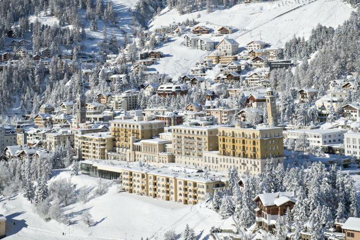 FAMILY ADVENTURES IN ST MORITZ Kulm-Hotel-winter-overview