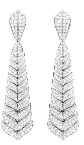 Boucheron - Timeless HJ collection Vendôme pendant earrings paved with diamonds on white gold - HR