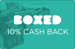 Boxed 10% Cash Back