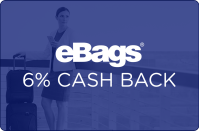 eBags 6% cash back