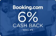 Booking.com 6% Cash Back - Was 4% -