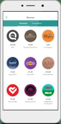 Phone Screen - Bonus section of the Ibotta app