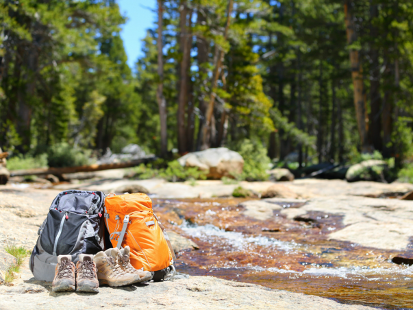 Outdoor gear photographed in nature
