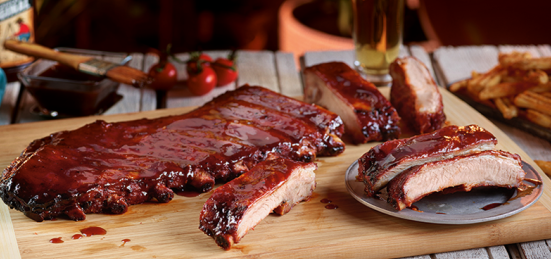 Budweiser Cherry Smoked Spare Ribs