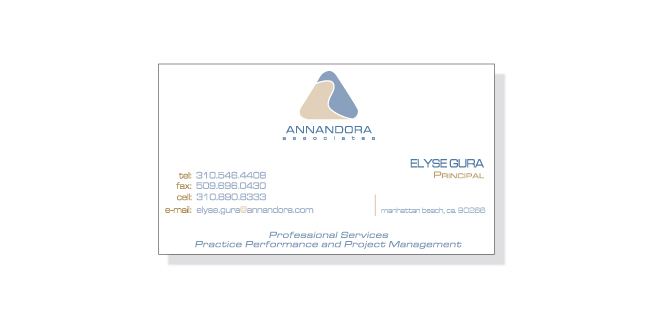 Print - Identity - Business Card Design - Client: Annandora Associates