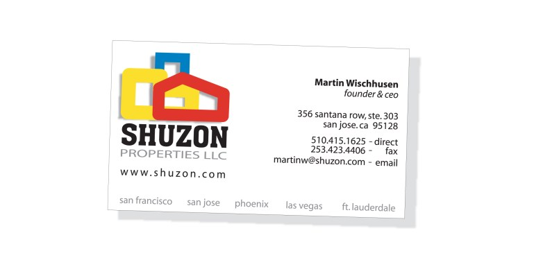 Print - Identity - Business Card Design - Client: Shuzon Properties