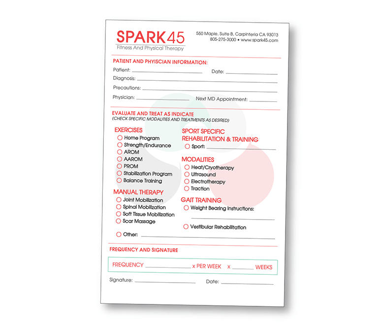 Print - Collateral - Misc - Intake Form - Client: Spark45