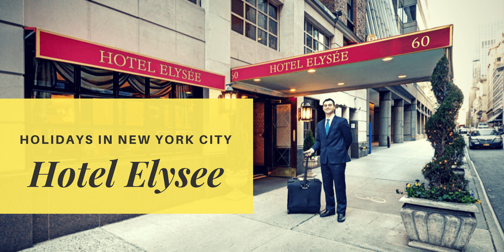 Holidays in New York City with Hotel Elysee of the Library Hotel Collection