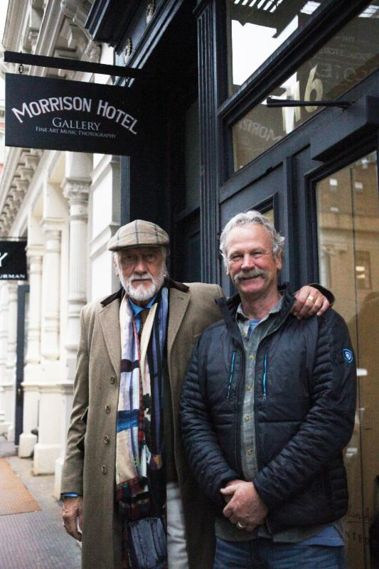 Mick Fleetwood Spends Sunday Afternoon At Morrison Hotel Gallery in NYC