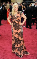Worst: What is with all of the big patterns on dresses this season? Catherin Martin is drowning in this flamboyantly printed gown that would probably better suit a window pane.
