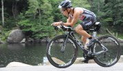 Zooming down the descent into Keene. A decent bike split followed by a killer run on my way to a 4th place podium finish at Ironman Lake Placid.