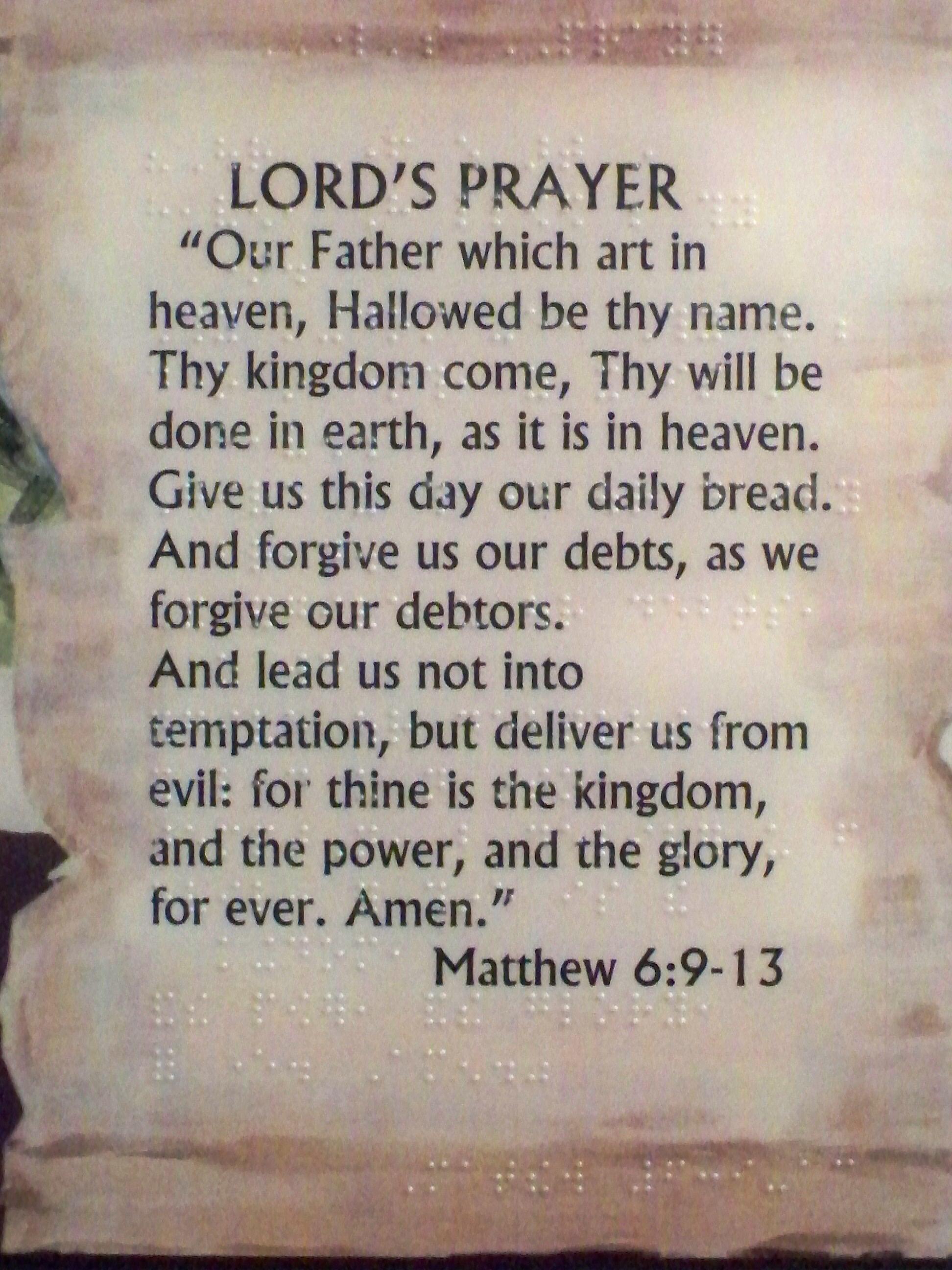 The Lords Prayer Life Saving Prayers