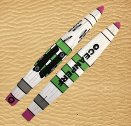 Paddle Board Racing Carbon Lifesaving Oceanperf Pink Green