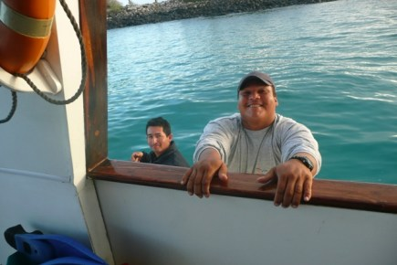 Our trusty boatmen