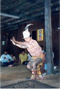 Traditional Iban dance