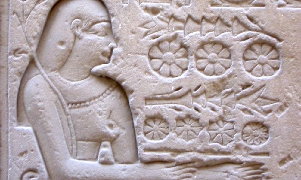 花の供物(エジプトの壁画)