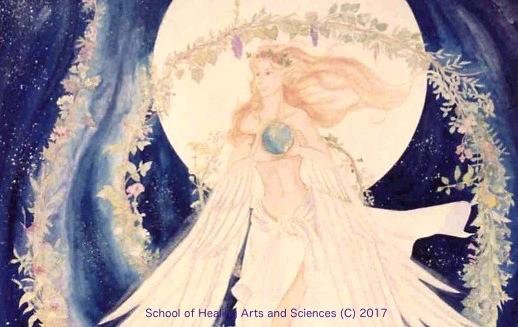 地球を抱く女神