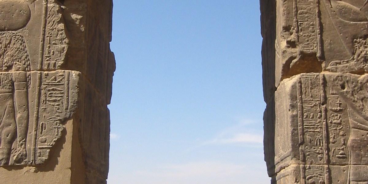 フィラエ神殿の門