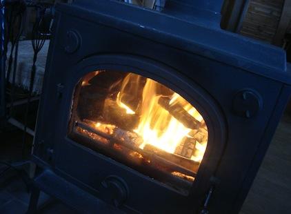 飛騨の冬 暖炉