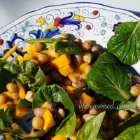 Mango, Greens and Beans Salad