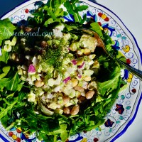 Healthy Potato Salad With Greens